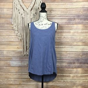 Lucky Brand | Lilac Paisley Boho Cotton Tank Top